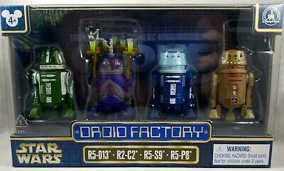 Disney STAR WARS DROID FACTORY Set of 4 Droids R5-013 * R2-C2 * R5-S9 * R5-P8