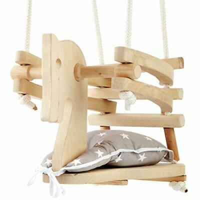 Baby Toddler Natural Wood Horse Figure Safety Swing Seat Chair - Wooden Swing