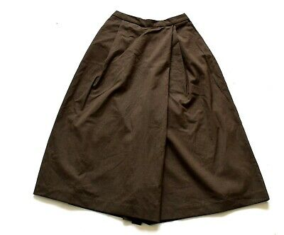 Women's Ladies Vintage Brown Culotte Shorts Retro 6