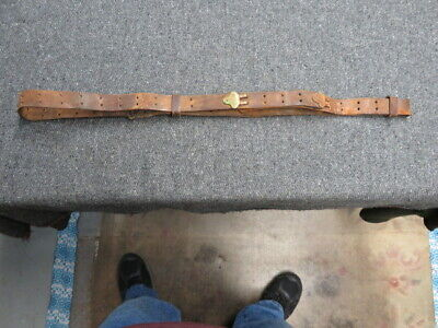 Wwi Us M1907 Leather Sling-For 1903 Springfield & P17 Enfield Rifles