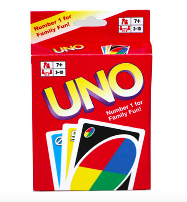 GENUINE UNO CARD GAME Latest Version Family Fun Gift Party UK SELLER