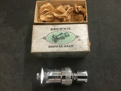 Vintage new BROWNIE Chicago faucet Shower head bathroom antique self cleaning