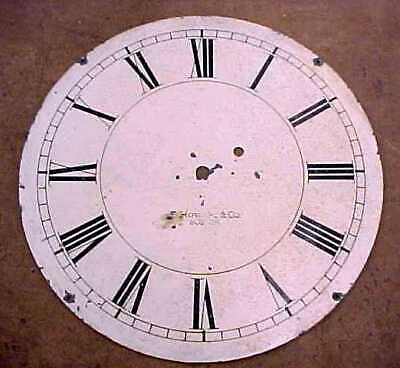 """Vintage E. Howard Clock Dial - 12 1/2"""" - Painted on Zinc  - Time Only"""