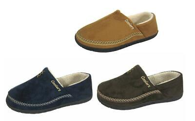 Mens Coolers Micro Suede Full Back Shoe Slippers with Fleece Lining Sizes 7-12