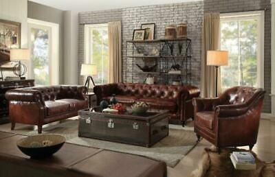 Awe Inspiring Acme Furniture Aberdeen Leather Vintage Dark Brown Sofa And Pdpeps Interior Chair Design Pdpepsorg