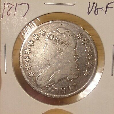 1817 Bust Half VG-F.........Combined Shipping Only $3.50..Lot #4350