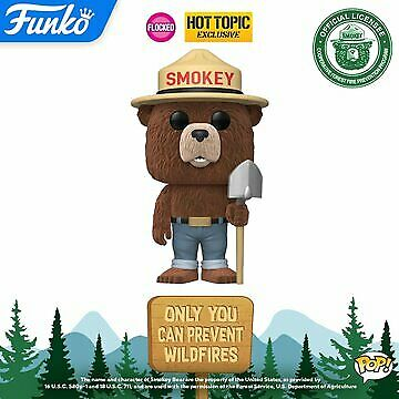 Funko Pop! Ad Icons: SMOKEY THE BEAR Flocked Hot Topic Exclusive PREORDER!