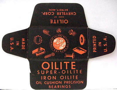 Vintage  OILITE BEARINGS   DE  Safety Razor Blade