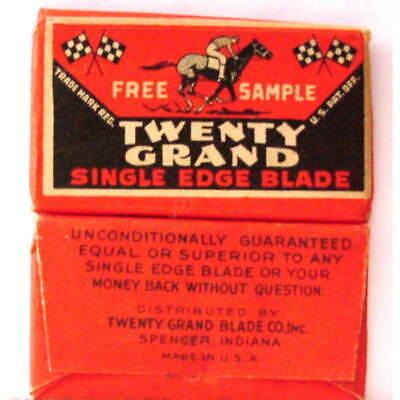 Vintage SPENCER IN TWENTY GRAND HORSE FREE SAMPLE  SE  Safety Razor Blade