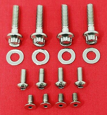 Harley 1996 & Up Handlebar Switches & Control Levers Stainless Arp 12Pt Bolt Kit