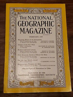 Vintage The National Geographic Magazine February, 1948 Back Issue Vol.93 Num.2
