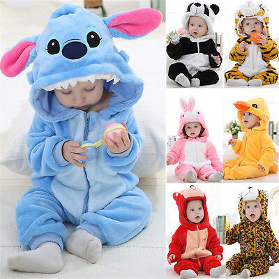 2019 HOT Unisex Baby Toddlers' Pajamas Kigurumi Animal Cosplay Costume Romper 68