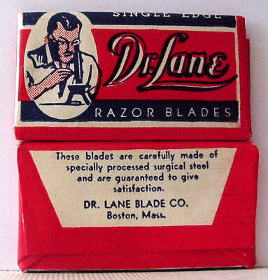 Vintage DR LANE SINGLE  EDGE Safety Razor Blade
