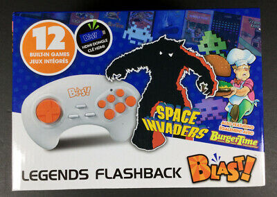 Legends Flashback Blast! HDMI DONGLE 12 Built-In Games Space Invaders - NEW