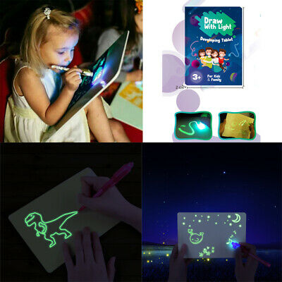 Draw With Light Fun &Developing Toy Drawing Board Magic Draw Educational 2019 YO
