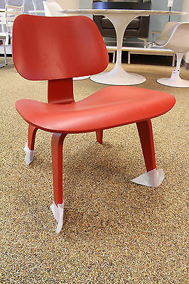 authentic Herman Miller Eames LCW Red Lacquer limited ed. wood DCW lounge chair
