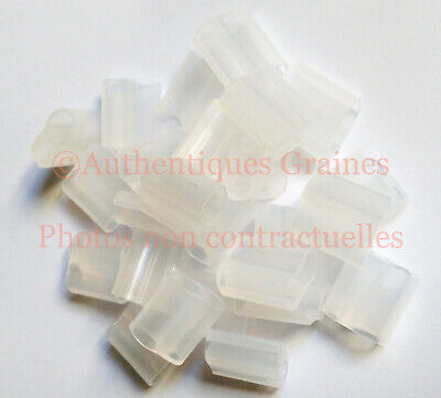30/80 Clips Silicone Greffage Tomate Poivron Courgette Légumes Support Jardin