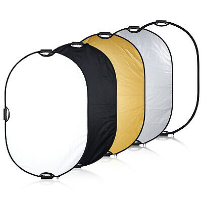 """Neewer Portable 5-in-1 32x48""""/81x122cm Oval Light Reflector with Handle"""