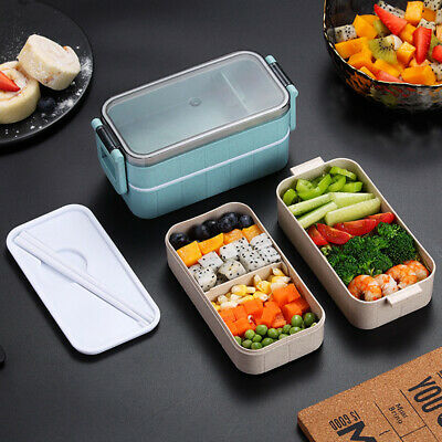 AU-Microwave Heating Lunch Box Leak-Proof Picnic Divided Storage Bento Container