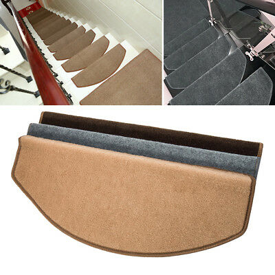 15 Piece Carpet Stair Treads Mats Step Staircase Floor Mat Protection Cover