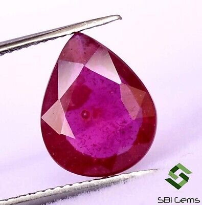 2.24 Cts Natural Ruby Pear Cut 10x8 mm Faceted Deep Red Shade Loose Gemstone GF
