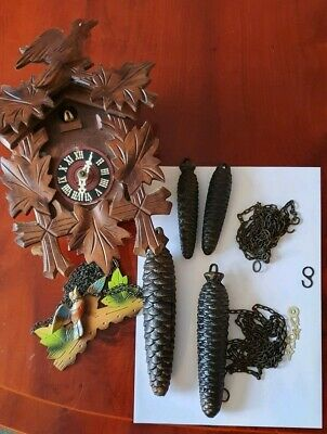 Lot of old Cuckoo Clock Parts for spare /repair