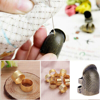 1/10pcs Metal Finger Protector Needle Thimble Antique Ring Sewing Accessories