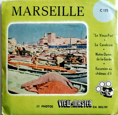 3x VIEW MASTER REEL / MARSEILLE / NOTRE DAME / EXCURSION / FRANCE / FRANKREICH