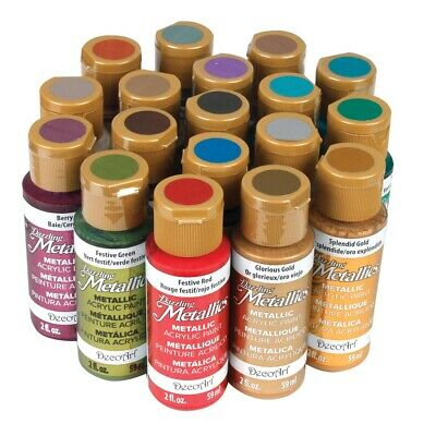 Americana Acrylic Paint Dazzling Metallics Set  - 18-Color Set, Dazzling