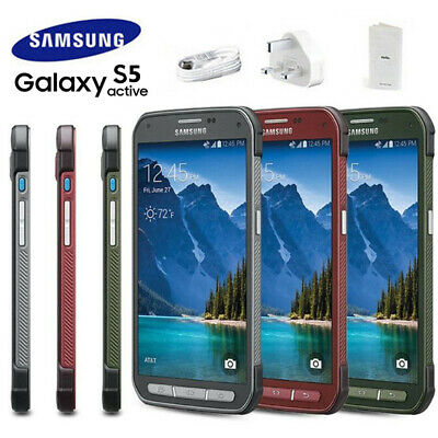SAMSUNG Galaxy S5 Active G870A Grey Red Green Android Phone Factory Unlocked