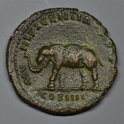 Beautiful Copper As Of Antoninus Pius: Elephant. Rome, Ad 148. Ric: 863. V.f+