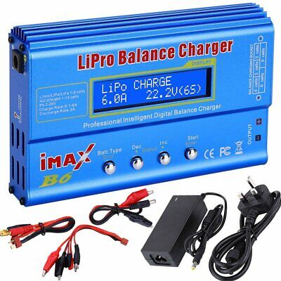 iMAX B6 RC 80W Balance Charger LCD for Lipo NiMH NiCd Multi Battery + UK Adapter