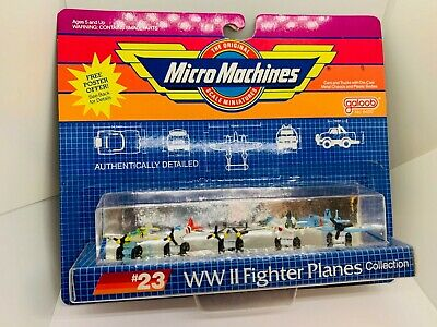 Micro Machines WW2 Fighter Planes Collection #23 NEW 1989 Galoob