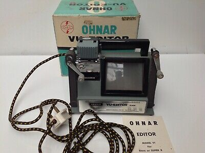 Vintage Super 8 Cine Movie Ohnar Film Editor Modelvi Camera Projector