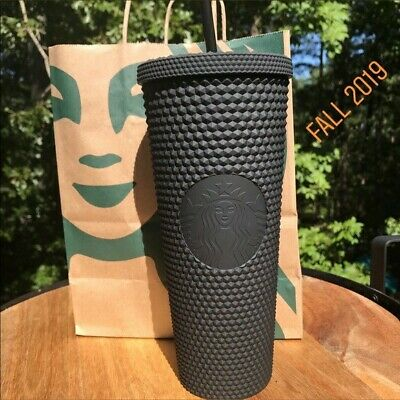 FALL 2019 Starbucks Matte Black Studded Spiked Tumbler Cold Cup 24oz NEW