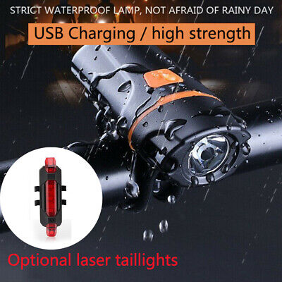 1200 Lumens Bicycle Light Bike Headlight LED Taillight USB Rechargeable iPX6 CHZ
