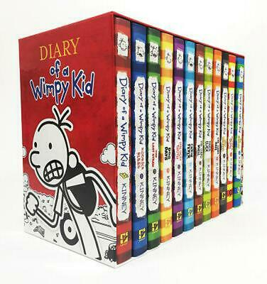 Diary of a Wimpy Kid Box of Books (1-12) by Jeff Kinney (English) Boxed Set Book