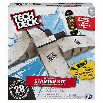 Tech Deck - Starter Kit - Ramp Set with Exclusive Skate Board and Trainer Clips