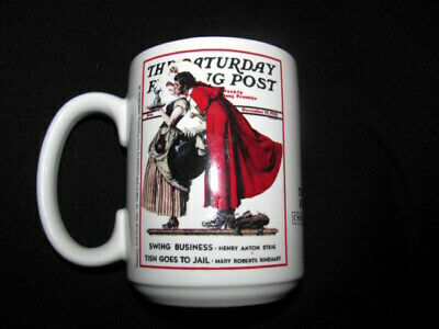 2 CUPS*Norman Rockwell Xmas Collection 1936-THE SATURDAY EVENING POST CoffeeMug