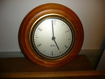 Vintage 1950s era Gents Wall Clock .Wood rimmed 35cm Gents of Leicester Clock