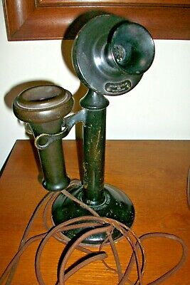 Antique At&T Candlestick Usa Telephone 1904 1915 Model # 323 Western Electric