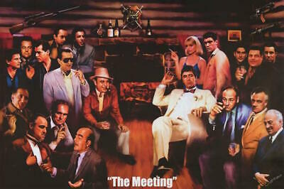 """The Meeting Poster  Goodfellas, Godfather, Sopranos, Scarface 36"""" x 24""""  #51062"""