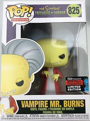 Funko Pop Simpsons Vampire Mr. Burns #825 NYCC 2019 IN HAND Treehouse Of Horror