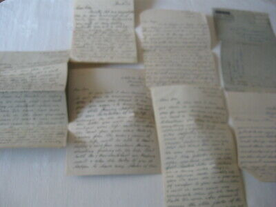 Lot of 7 Handwritten Letters from England Scotland 1946 Post War Rationing