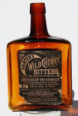 Dr Harter's Wild Cherry Bitters Bottle With Paper Labels