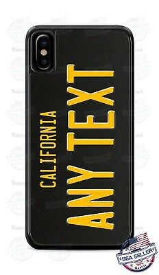 California Vintage State License Plate Phone Case For iPhone 11 Pro Samsung LG
