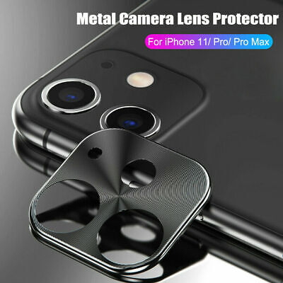 2Pcs For iPhone 11 Pro Max Full Cover Metal Camera Lens Screen Protector Cover