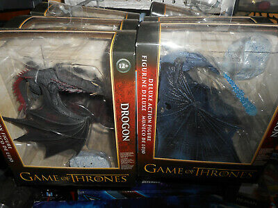 Game of Thrones Viserion Ice Dragon Deluxe lot drogon McFarlane Toys x 2