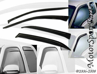 2.0mm Thickness Outside Mount Window Visor Rain Guard For Toyota Venza 09-17 4pc
