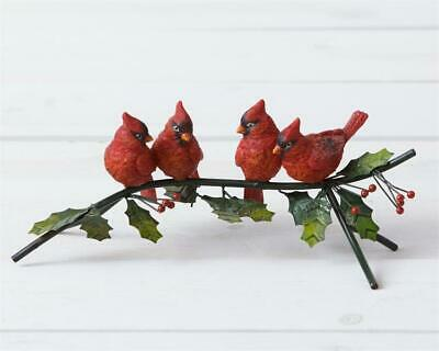 Wall Sculpture 2 Cardinals Sitting on Pine Branches Bovano